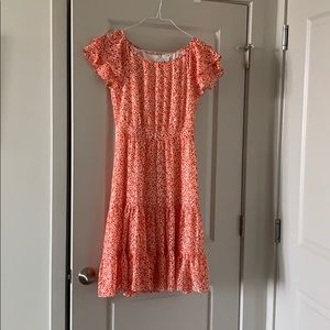 Jcrew red flower dress